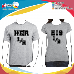 Playeras Her 1/2 & his 1/2